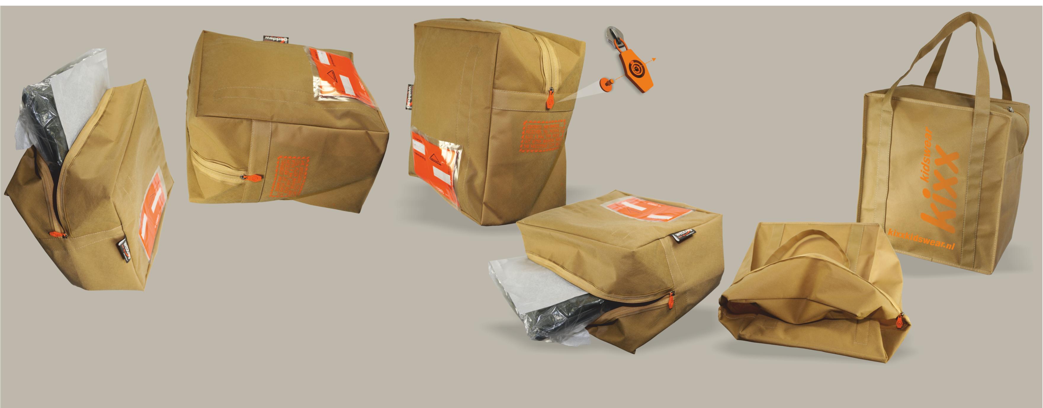 Verzendverpakking wordt draagtas